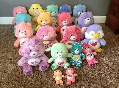 Care Bears Lot of 19 Plush Stuffed Animals