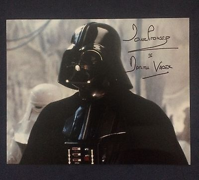 "Star Wars DAVE PROWSE ""Darth Vader"" signed 8x10 Photo Autograph"
