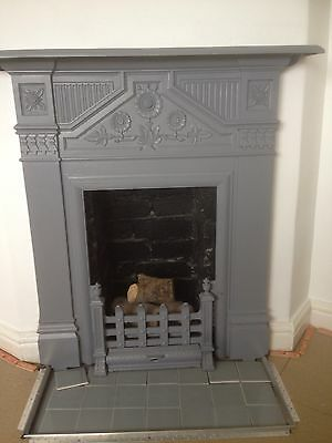 Cast Iron Fire Place Complete , Fully Restored