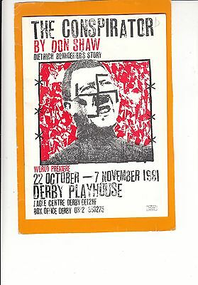 1981  Derby Theatre Programme - THE CONSPIRATOR - BRENDA PETERS - FRANK GRIMES