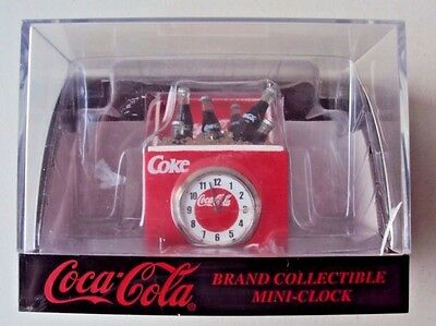 "1999 Coca-Cola ""Pop On Ice in Cooler"" Mini Clock - New"