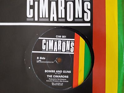 "Cimarons Bombs and Guns + Love and Affection - 45 giri 7"" reggae roots vinile"