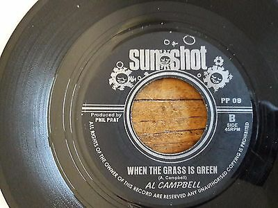 "Al Campbell - When the Grass is green + where were you - 45 giri 7"" reggae roots"