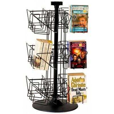 Paperback Countertop Wire Rack Countertop Spinner Display in Black