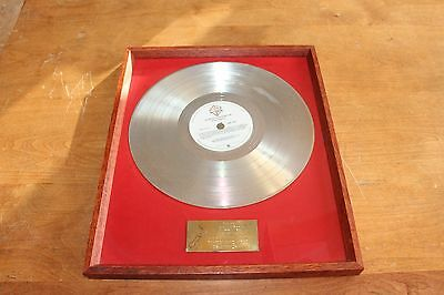 Rod Stewart - New Zealand LP Platinum Award / Presented To Billy Peek / RIAA