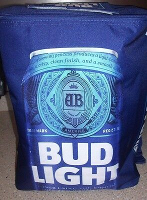 Bud Lite Budweiser 24 Can Cooler Knapsack Insulated Bud Light 2017 Edition NEW