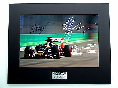 Max Verstappen Genuine Hand Signed Huge 59 X 46 Cm Photo Mounted Coa  Toro Rosso