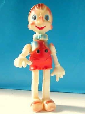 Vintage old Russian USSR Plastic Celluloid Pinocchio Buratino Child Toy Doll