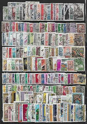 EXCELLENT STOCK PAGE OF OLD WORLD STAMPs - A LOT of OVER 200 USED (W87c)