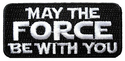 Star Wars May The force Be With You Logo Iron-On Patch