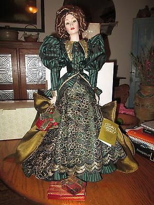 Franklin Mint Helena The Gibson Girl Christmas Heirloom Doll  *HTF