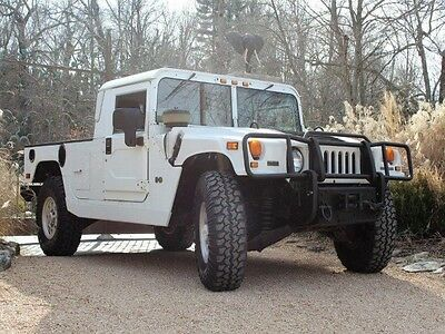 """2003 Hummer H1 H1T Hummer H1 Pickup! LOW MILES! Serviced and Inspected! White over""""Black! WOW!!!"""