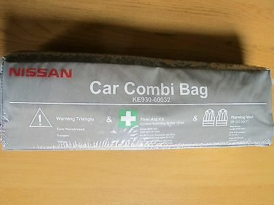 Nissan Car Combi Bag New & Sealed Warning Triangle Warning Vests First Aid Kit