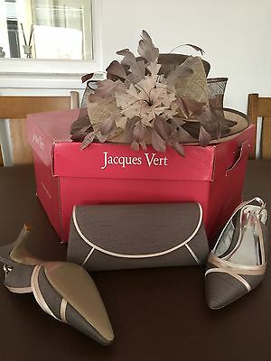 Jacques Vert Matching Hat Bag And Shoes Mother Of The Bride/ Groom