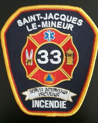 Quebec Fire Fighter officer patch - Saint-Jacques