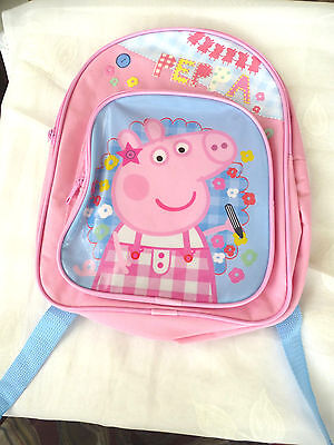 Bnwtofficial Peppa Pig Girls Backpack Rucksack - Nursery/school/holiday Bag