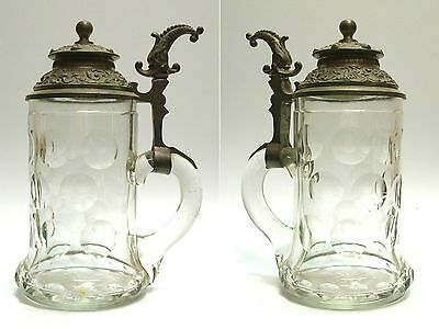 bierkrug 1 2l glaskrug m zinndeckel jugendstil krug tankard sammelkrug eur 45 00. Black Bedroom Furniture Sets. Home Design Ideas