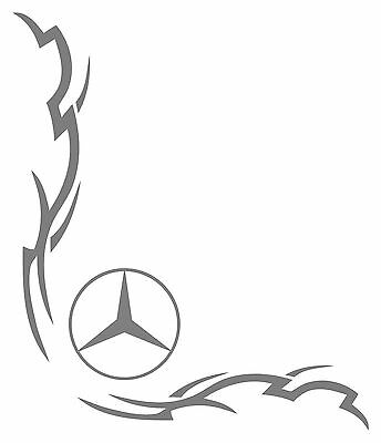 MERCEDES Truck Stickers x 2 razor style cab window decal Actros Axor Atego