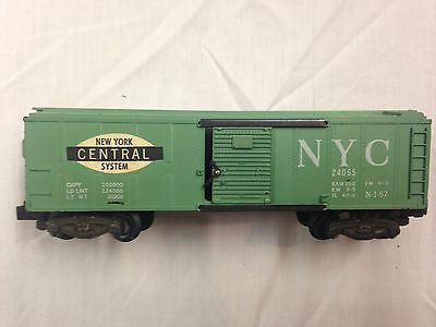 AC Gilbert American Flyer 24065 1960 New York Central Boxcar, knuckle couplers