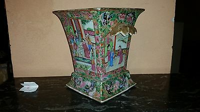 Vaso Cinese In Porcellana Canton Chinese Porcelain Famiglia Rosa Famille Rose