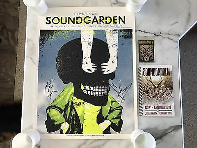 Soundgarden Concert Poster Signed By Chris Cornell & The Band 2013 Oakland, CA
