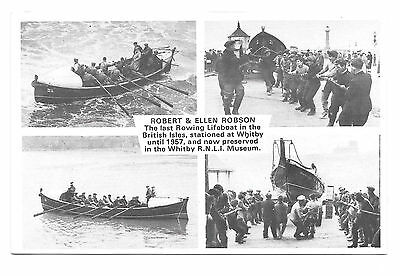 Whitby - Robert & Ellen Robson Rowing Lifeboat - Old Postcard - Yorkshire
