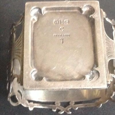 Antique Unusual  Sterling Silver   Napkin Ring