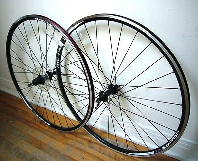 Shimano Alex Rims S480 700c wheels, 8-9-10 speed, like new!