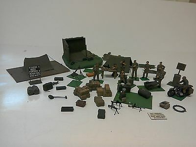 1.35 scale or 1.32 scale model soldiers ,tents motorbike & rider & accessories
