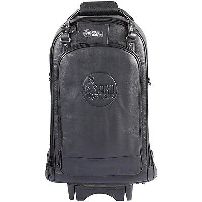 Gard Triple Trumpet Wheelie Bag 11-WBFLK Black Ultra Leather LN