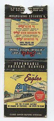 1940s Matchbook Cover - The Eagles Line, Missouri Pacific Railroad