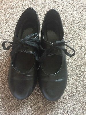 Girls Black Tap Shoes Size 3