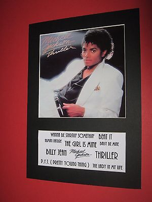 Michael Jackson Thriller  A4 Mounted Album Print (Win 3 4Th Free)