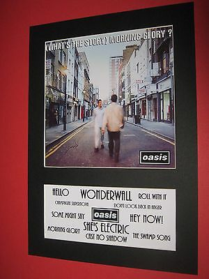 Oasis Whats The Story Morning Glory A4 Mounted Album Print (Win 3 4Th Free)