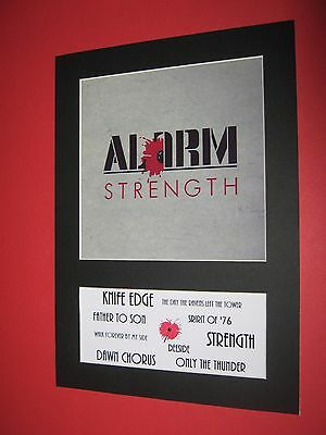 The Alarm Strength  A4 Mounted Album Print (Win 3 4Th Free)