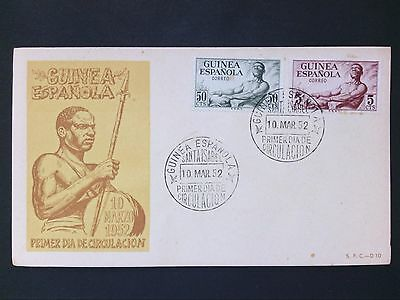 GUINEA ESPANOLA FDC 1952 FIRST DAY COVER d2807