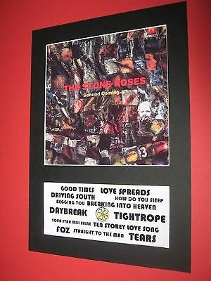 The Stone Roses Second Coming A4 Mounted Album Print Ian Brown (Win 3 4Th Free)