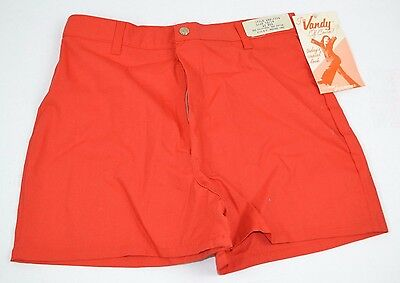Vtg 1970's Red HIGH WAIST Short SHORTS by Lady Vanderbilt 13/14 NOS