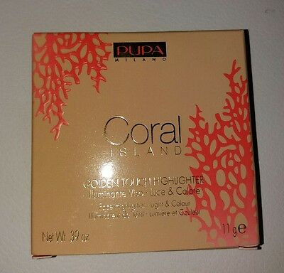PUPA Golden Touch Highlighter Collezione CORAL ISLAND