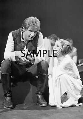 "Set Of 2 Carrie Fisher Star Wars 8"" x 6"" Photo Prints Princess Leia  Han Solo"
