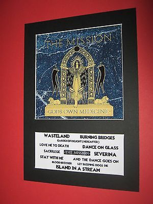 The Mission Gods Own Medicine  A4 Mounted Album Print (Win 3 4Th Free)