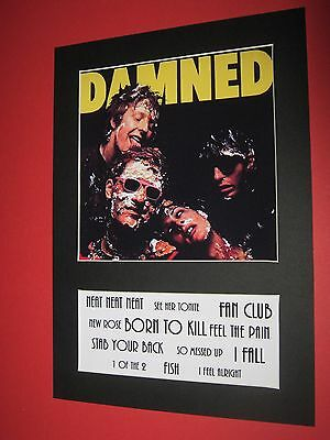 The Damned Damned Damned  A4 Mounted Album Print (Win 3 4Th Free)
