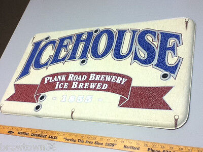 Miller beer sign tacker Plank Road Brewery Icehouse vintage large tavern FD6