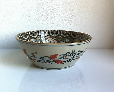 Japanese Vintage Victorian Oriental Antique Art Deco Cranes & Rabbits Bowl