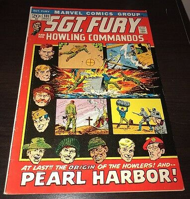 Sgt. Fury and His Howling Commandos #101 HIGHER GRADE Marvel 1972 Comic