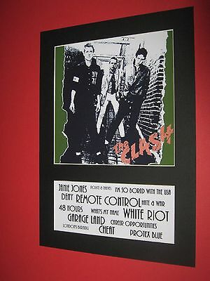 The Clash  A4 Mounted Album Print (Win 3 4Th Free)