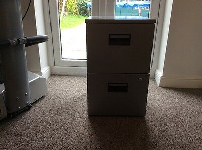 Filing Cabinet Grey Two Drawers