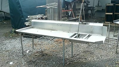 9' x 34' Left Side dirty Dish table Commercial Heavy Duty S/S Dishtable