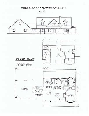 2562 square foot three bedroom house plan