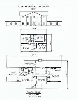 3670 square feet five bedroom house plan